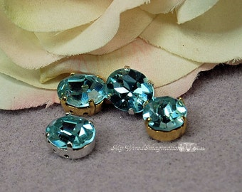 Vintage Swarovski Alexandrite Sew On, Color Change Swarovski Crystal 12x10mm Oval, Art 4120, Crystal Sew On Jewelry Making June Birthstone