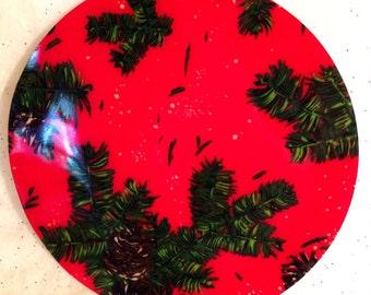 Vintage Christmas Serving Tray Platter