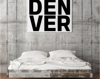 Denver, Housewarming Gift, Office Decor, Office Wall Art, Gift, Denver Colorado, Denver Wall Art, Denver Home Decor, Colorado, Colorado Art