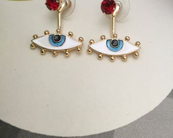 Kitsch Eye drop detail earrings