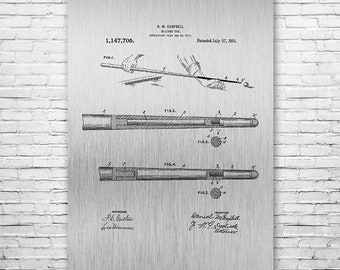 Billiards Pool Cue Stick Poster Art Print, Pool Stick, Billiards Cue, Billiards Stick, Billiards Gift, Billiards Poster, Billiards Wall Art