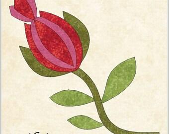 Elegant Rose Of Lemonye Quilting Applique Pattern Design