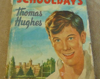1950s Thomas Hughes Tom Browns School Days Vintage Book 50s childhood retro child's book