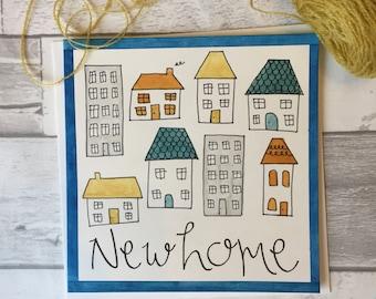 New Home Card - New Home - Card - Handmade - Handpainted - Watercolour - Original - Housewarming