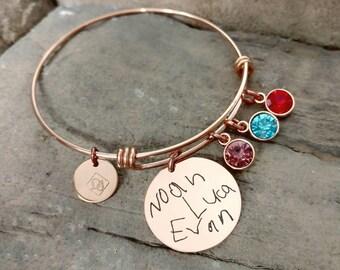 Mom Bracelet - Grandma Bracelet - Handwriting Bracelet - New Mom Gift - Grandma Gift - Personalized Gift - Mother's Day Gift - Hand Writing