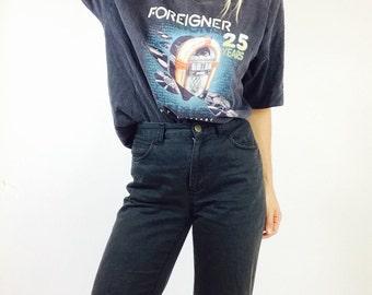 Vintage foreigner shirt vintage foreigner t shirt foreigner 25th anniversary T mens vintage T shirt mens L T shirt vintage graphic T vintage