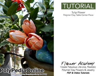 Polymer Clay Tutorial, DIY Jewelry, Flower Decoration, DIY Flowers, Table Centerpiece, Wedding, Flowers Tutorial, diy Handmade Bead, Video