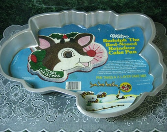 Wilton Rudolph The Red-Nosed Reindeer Cake Pan - Vintage Wilton Cake Pan - Wilton - Reindeer Cake Pan - Christmas Cake Pan - Wilton Pan