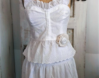 Washed Cotton Boho Wedding | White Boho Wedding Dress | Beach Wedding Dress |  The Wild Raspberry