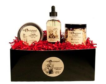 Sandalwood Gift Set, Sandalwood Bath Salts, Sandalwood Body Oil,  Sandalwood Lotion Bar, Sandalwood Gift, Gift For Her, Pamper Gift Set