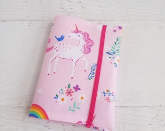 Unicorn Birthday Gift for Girls | Unicorn Crayon Roll Up Pink | Travel Art Kit for Kids | Unicorn Craft Kit Kids | Unicorn Party Favors