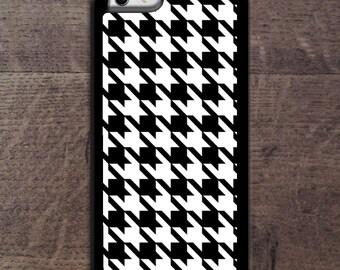 Black & White Houndstooth  phone case