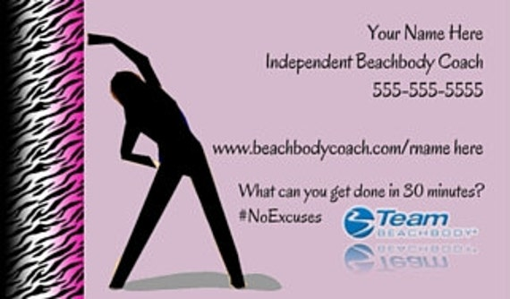 Beachbody business card printed printed beachbody card like this item colourmoves