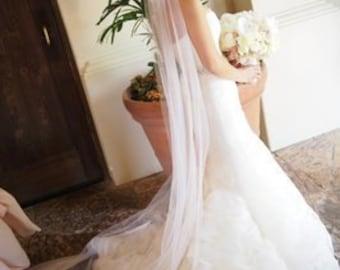 Cathedral length veils,  wedding bridal veil, 120 inches long veil, White, Ivory, Diamond white