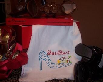 Shoe Whore Dish Towel