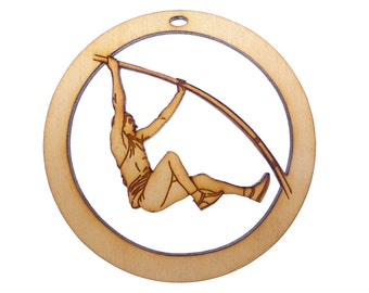 Male Pole Vaulter Ornament - Pole Vaulter Christmas Ornaments - Pole Vaulter Gift - Personalized Free