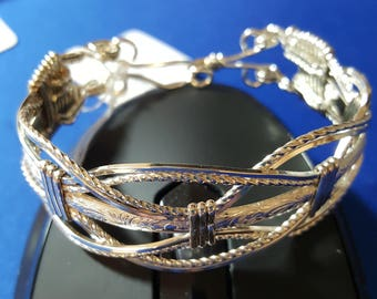 Hand Crafted .925 Sterling Silver Wire Wrapped Bracelet