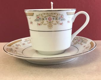 TEACUP CANDLE - Soy Candle - Homemade Candle - Decorative Candle - Pick Your Scent - Pick Your Color - Natural Candle - Highly Scented