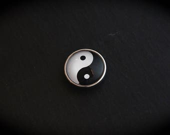 Cabochon 18mm for jewelry - Yin etYang fancy pressure