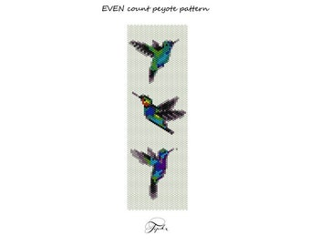 peyote pattern hummingbirds handmade bracelet tutorial