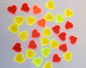 GLOWING HEARTS wedding table decoration
