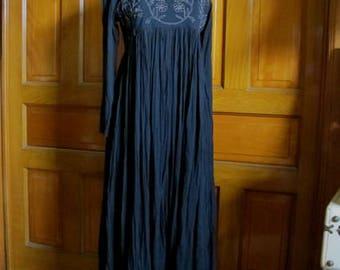 70s Peasant Dress, festival dress, Maxi Dress, Folksy 70s Dress, Vintage Festival Dress, Hippie Tie Back Dress, Karavan Prairie Dress