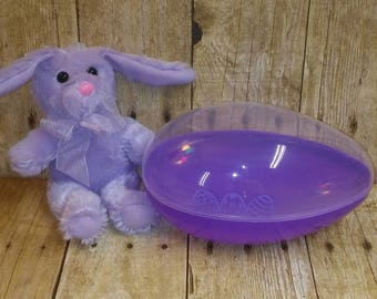 Clearance* Purple Bunny in Purple Personalized Easter Egg Gift