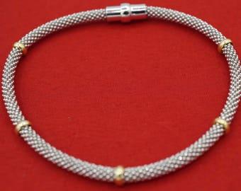 925 Sterling Silver Mesh-Style Bracelet