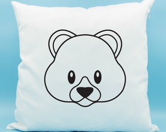 Teddy Bear Emoji Pillow - Teddy Bear Emoji Cushion - Bear Face Emoji Pillow - Cute Bear Emoji Pillow -Teddy Bear Pillow