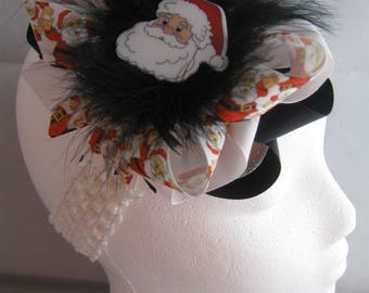 Santa Christmas Red Over-The-Top Hair Bow Hairbow