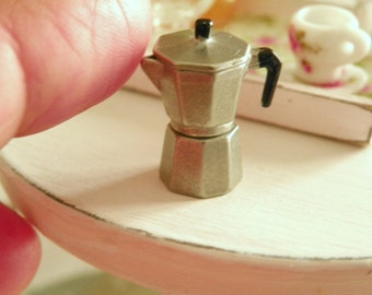 miniature dollhouse coffee maker