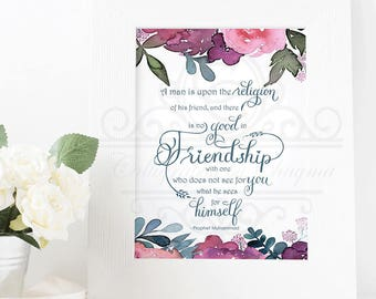 Friendship Hadith Quote Art Print