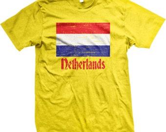 Flag of Netherlands, Vlag van Nederland Men's T-shirt, NOFO_00063