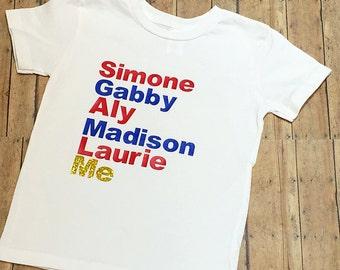 2016 USA Olympics Gymnastics Team Shirt - Girls - Child - Youth