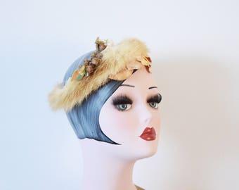 1950's Fur Halo Headpiece