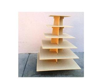6 Tier square cupcake stand