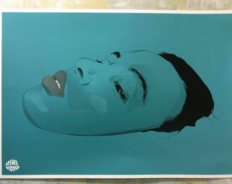 BLUISH A4 A3 A2 matte Print - Exclusive. Wall art. Photomontage. Poster. Illustration. Gift. Design. Vector.