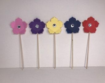 Petunia Cake Topper, petunia cupcake toppers, cupcake toppers, cake toppers, flower cake topper, flower cupcake toppers, flowers, wedding