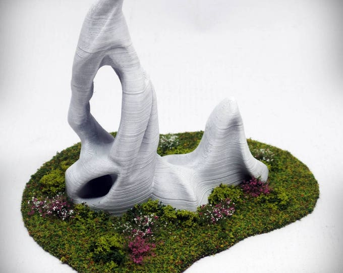 "Wargame Terrain - Spike Deluxe (""Ghost Stones"") – Miniature Wargaming & RPG outcropping terrain - 4 inches"