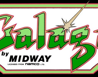 "Galaga Marquee, Arcade, 12 x 36"" Video Game Poster, Print"