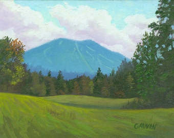 Digital Print of Burke Mountain Vermont Oil Painting