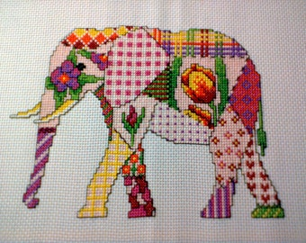 Patchwork Elephant Cross Stitch PDF Pattern