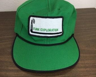 Funk Exploration vintage hat 1980s cap green