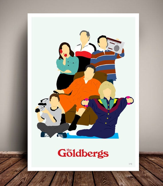The Goldbergs // Minimalist TV Poster // Unique Art Print // Available in 6 Sizes