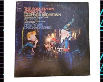 The Sorcerer's Apprentice - Leonard Bernstein & the New York Philharmonic LP Record, 1960s Vintage Vinyl Record Album, classical