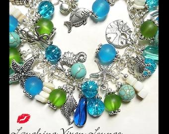 Ocean Bracelet - Ocean Necklace - Ocean Jewelry - Ocean Charm Bracelet - Sea Necklace - Sea Bracelet - Across The Sea Full