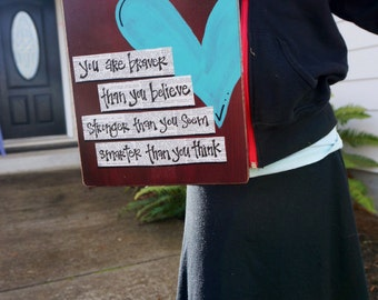 Braver than you believe Teacher appreciation clipboard
