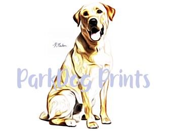 Labrador Retriever Yellow Print