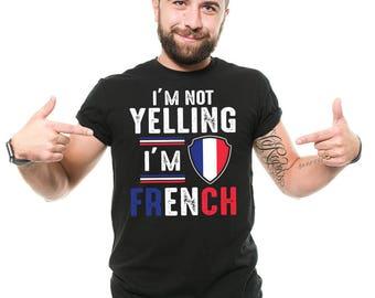 French T-Shirt Funny Patriotic France Flag French Diaspora Tee Shirt