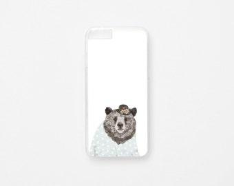 iPhone 6 Case - Lady Bear iPhone Case - iPhone 6 Plus Case Illustration iPhone Case - Hard Plastic or Rubber